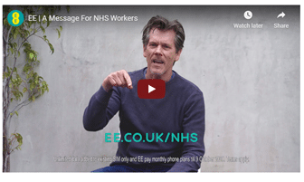 EE Mobile NHS Coronavirus Advert